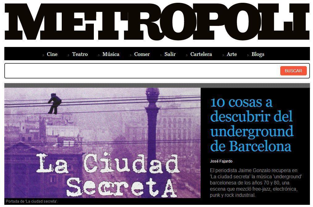 Portada de Metrópoli con 'La ciudad secreta'