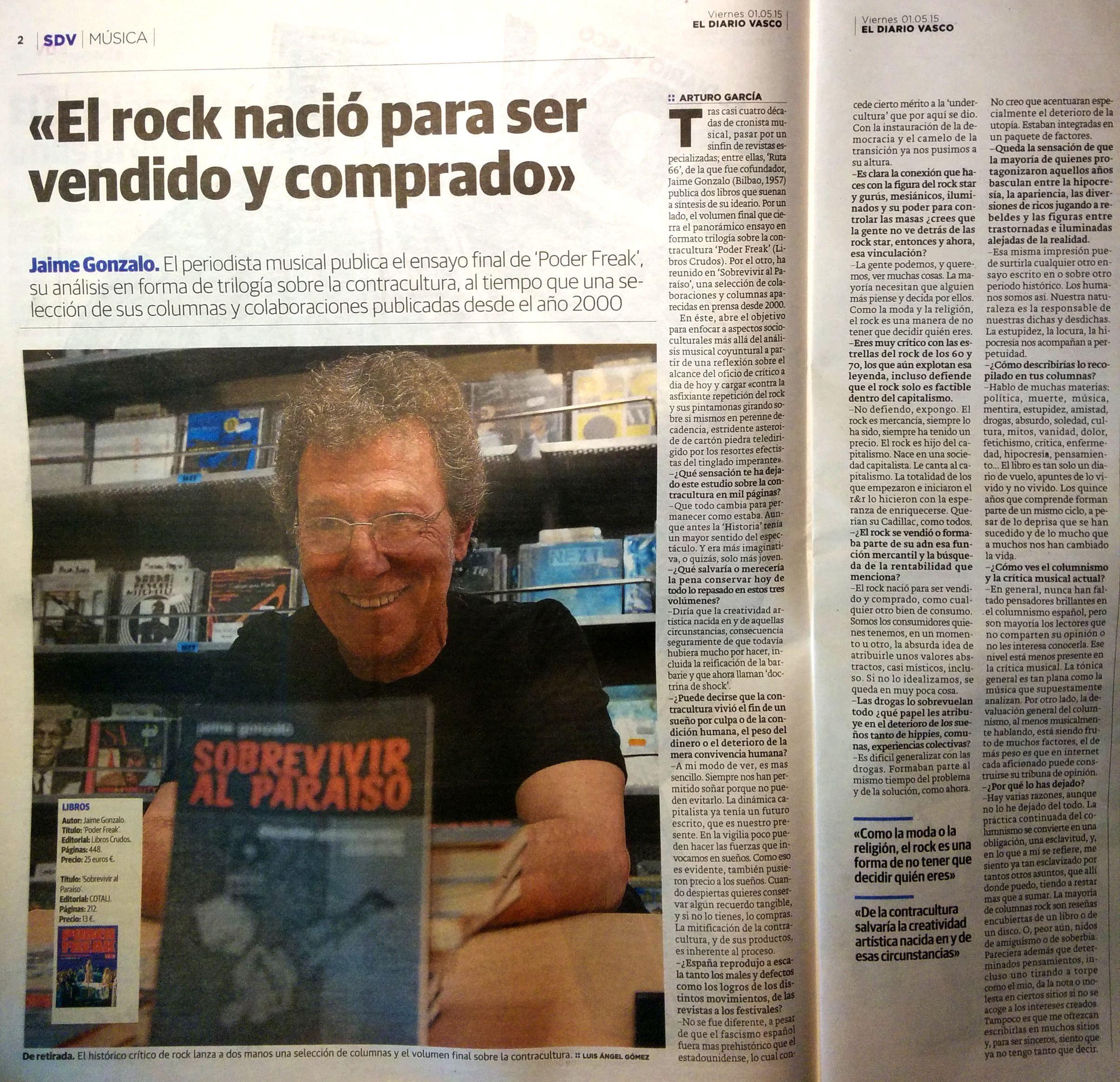 Entrevista en 'El Diario Vasco'.